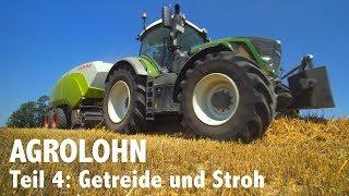 Lohnunternehmen Agrolohn: Getreideernte und Strohbergung
