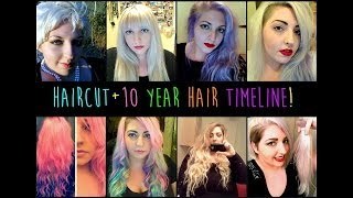 Chopping Off My Long Hair + 10 Year Hair Timeline! Thumbnail