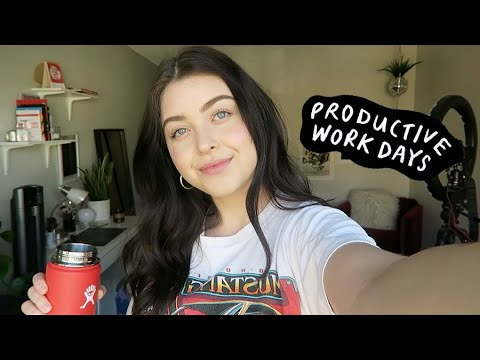 VLOG: productive work days + unboxing