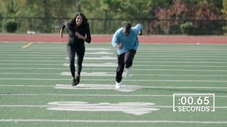 Maria Taylor Runs The 40 With Help From Joey Galloway | Maria Taylor's A-Class Bucket List