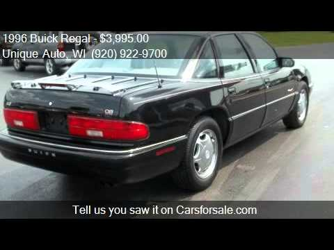 1996 buick regal gran sport 4dr sedan for sale in fond du la youtube. Black Bedroom Furniture Sets. Home Design Ideas