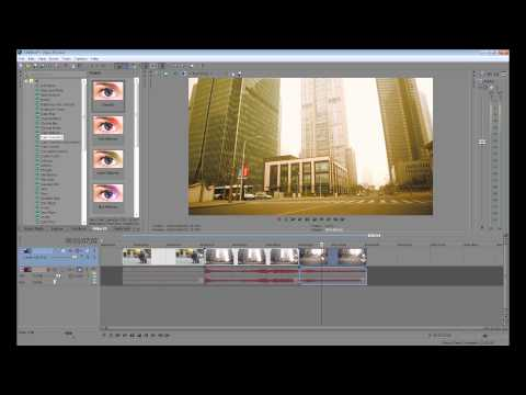 Sony Vegas Tutorial: How to apply effect to all clips