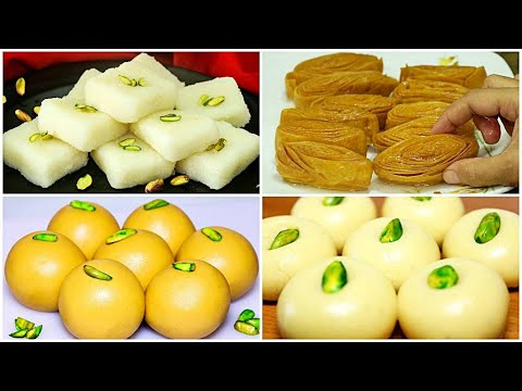 4 Easy & Quick Sweet Recipes | Indian Sweet Recipes for Festivals | Must Try Indian Sweets
