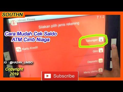 Cara Mudah Cek Saldo Atm Cimb Niaga Youtube