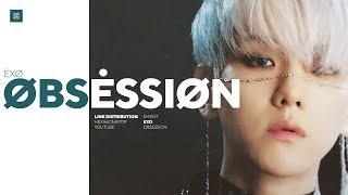 EXO - Obsession Line Distribution (Color Coded) | 엑소 - 옵세션