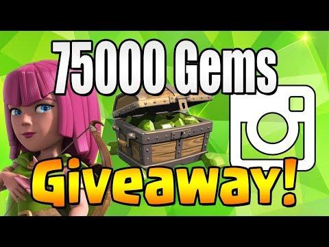 WINNER #4   75000 GEM Giveaway!  TH12 CELEBRATION   Clash of Clans