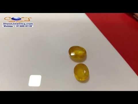 Bangkok Yellow Sappire Gemstone - Pukhraj Stone - Wholesaler | StoneJwellery | +91-9868-401180