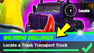 Locate a Trask Transport Truck Location (Fortnite WOLVERINE Week 5 Challenge)