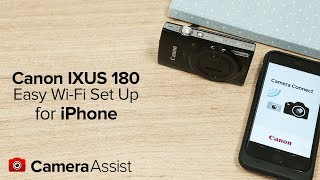 connect your Canon IXUS 180 to your Android phone via Wi-Fi