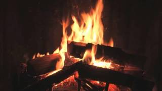 Repeat youtube video Traditional Yule Log Fireplace with Crackling Fire Sounds (HD)
