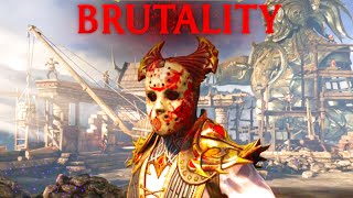 Mortal Kombat X Shinnok Wears Jasons Mask, Face Off Brutality