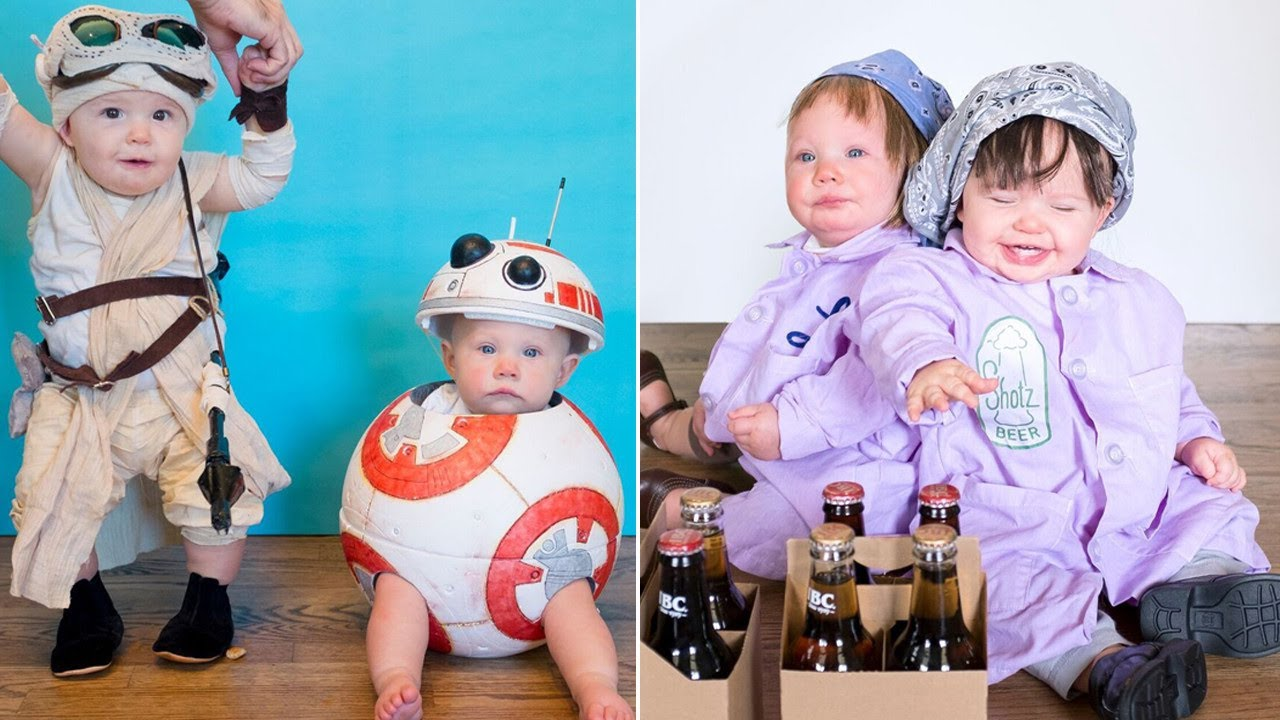 Mom Dresses Twin Baby Girls in Costumes Daily for Month Leading Up to Halloween  sc 1 st  YouTube & Mom Dresses Twin Baby Girls in Costumes Daily for Month Leading Up ...
