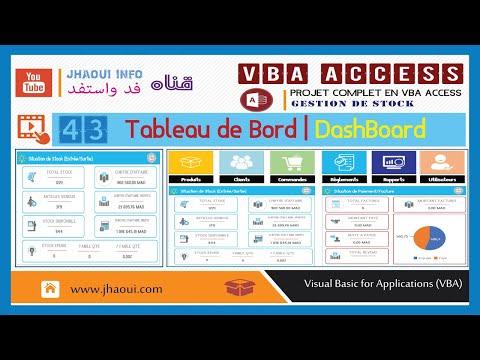 #43 : VBA Access -Tableau de Bord | DashBoard #1