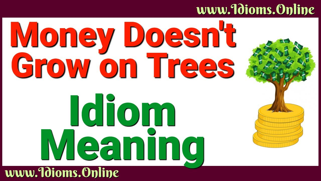 Money Doesn't Grow on Trees   Idioms Online