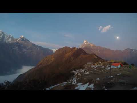 Machapuchare (Mount Fishtail), Nepal - Time Lapse