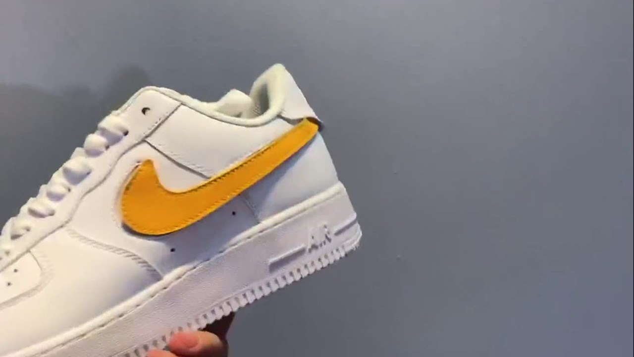4c147c4c751 Nike Air Force 1 07 QS Velcro Swoosh Pack White AH8462-102 - YouTube