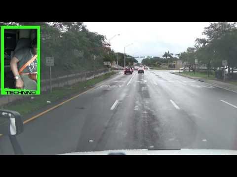 Truck Driving: Miami to Pompano Beach, FL  V-Log 06 05 2017