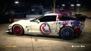 NFS 2015 Corvette Captain America wrap