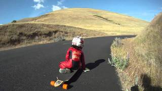 Tristan BellaBoy with Mischo Erban training run at the Longboard Maryhill Festival of Speed 2011