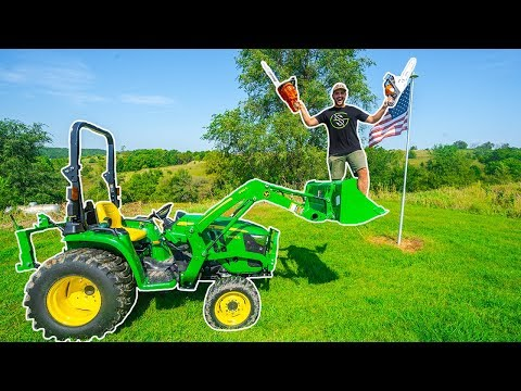 CUTTING TREES DOWN in My BACKYARD!!! (I Broke The Tractor)