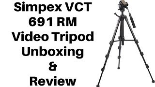 Simpex VCT 691 RM Tripod Unboxing and Review 2018 | Best Tripod For Youtuber.