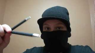 Fat ninja teachin how throw an pen