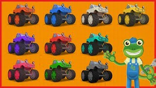 Counting Monster Trucks | Learn With Gecko | Learn to Count 1 to 10