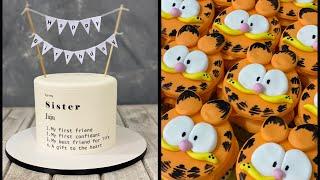 Message Cake  Garfield CupCakes