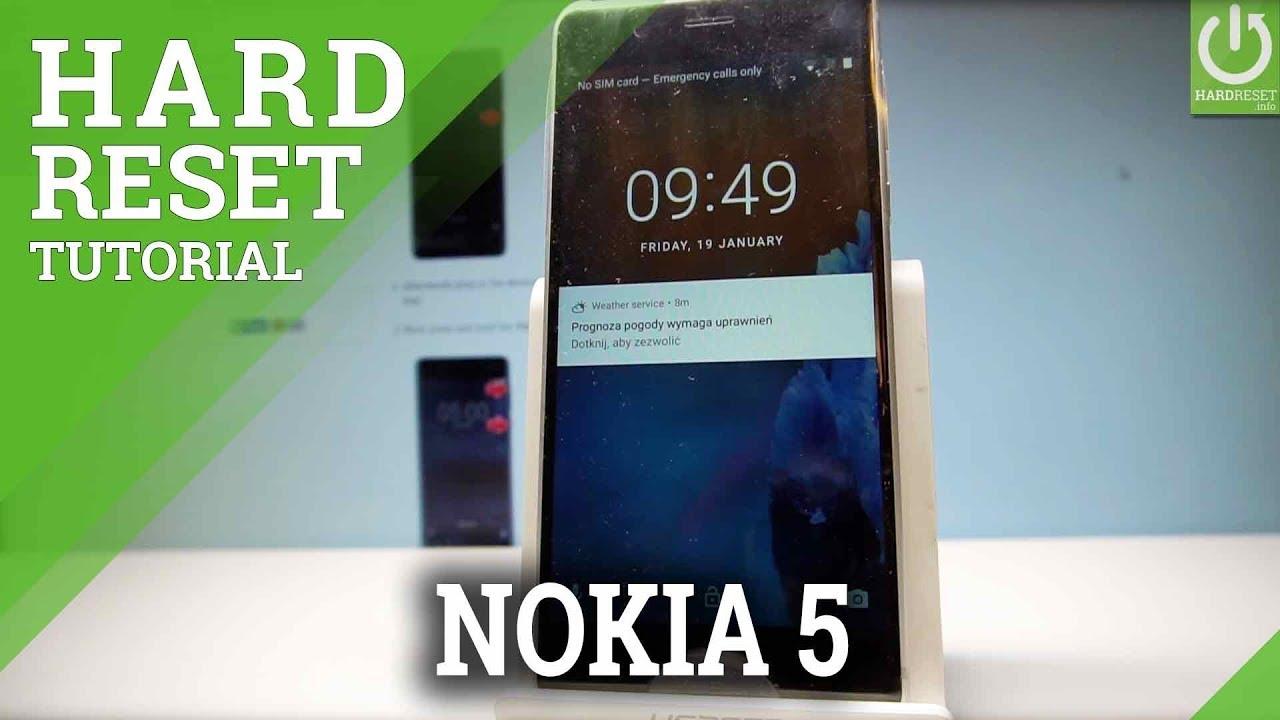 Hard Reset NOKIA 5 - HardReset info