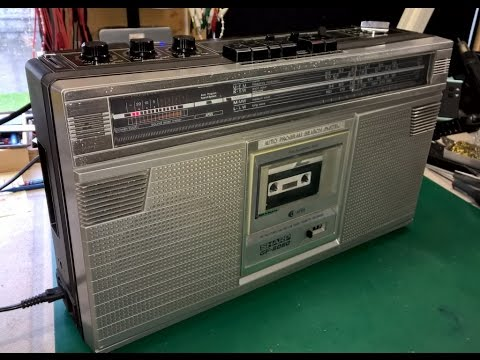 Video Blog #031 - Sharp GF-6060 Radio Cassette Player Repair with MP3 twist