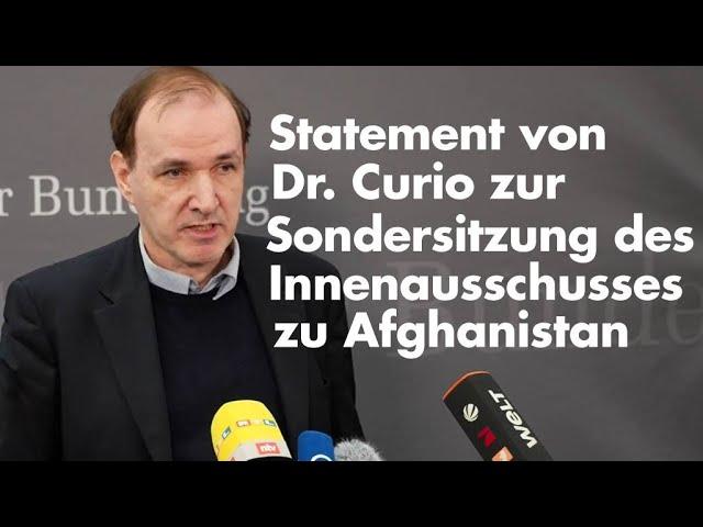 Sondersitzung des Innenausschusses zu Afghanistan