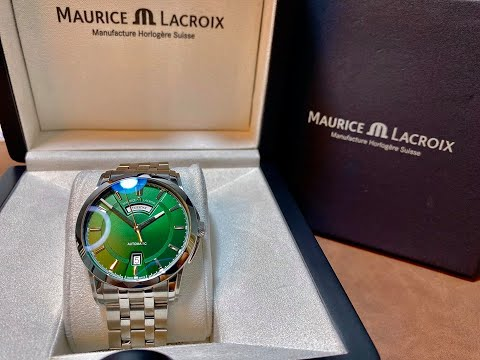 ( Review Đồng Hồ ) Maurice Lacroix Pontos Day Date Green PT6158-SS002-63E-1 | TIMEWISE