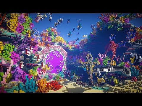 Minecraft EXTREME Ocean Nether Portal Timelapse | Coral Reef