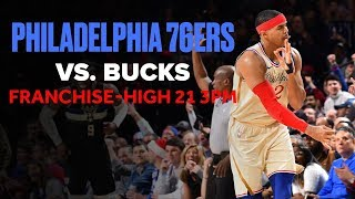 Gambar cover 76ers Hit Franchise Record 21 3PTs vs. Bucks | Christmas Day Highlights