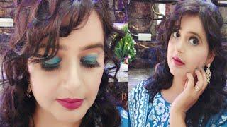 आइये सीखते है पार्लर जैसा मेकअप खुद कैसे करे💄/Learn Self Makeup Step by Step/Easy Blue Dress Makeup