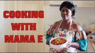 COOKING WITH MAMA E   GHANA JOLLOF #ROUND2