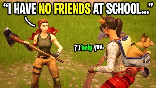 I told strangers I have NO FRIENDS at school to see if they care... (Fortnite Social Experiment)