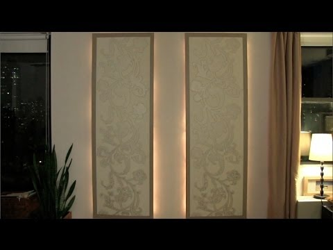 How To Make Lighted Floating Wall Panels Youtube
