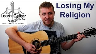 R.E.M. - Losing My Religion - Acoustic Guitar Lesson - Drue James - FULL SONG