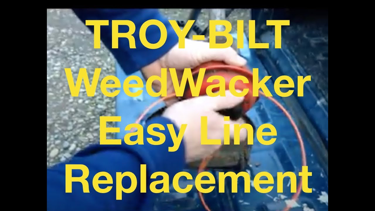 How to replace Weed Wacker Line troy Bilt weed wacker line replacement  instructions