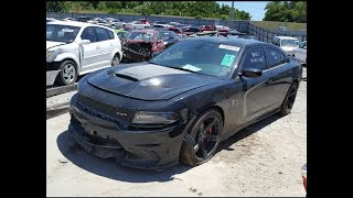 Wrecked 2017 Hellcat Charger rebuild part1