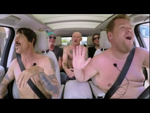 The Red Hot Chili Peppers Strip Down for 'Carpool Karaoke' With James Corden