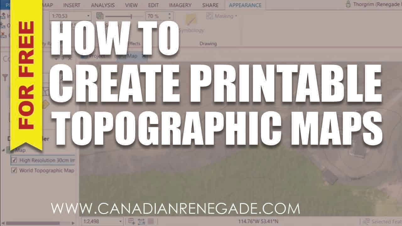 How To Create A Printable Topographic Map In Arcgis Pro Youtube