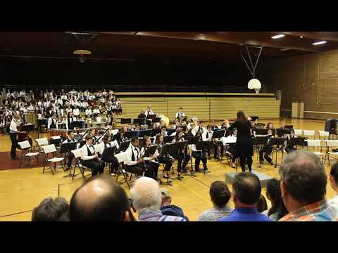"""March from """"Suite in Eb"""" (Holst) performed by Kamiakin Middle School Wind Ensemble 2018-06-05"""
