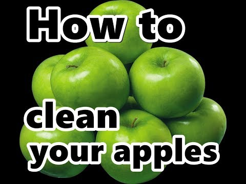 clean candy apples