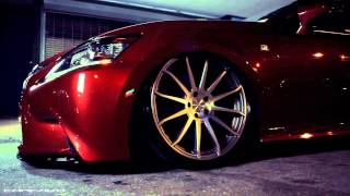 LEXUS GS-F SPORT ON CONCAVO CW-12 CW-5 CONCAVE WHEELS / RIMS NIGHT VIDEO TEAMCONCAVO