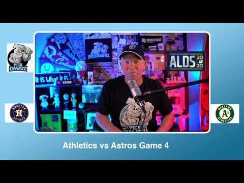 Oakland Athletics vs Houston Astros Free Pick 10/8/20 ALDS Game 4 Pick & Prediction MLB Picks