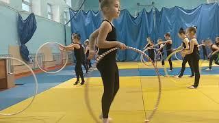 Открытый урок по художественной гимнастике г. Тюмень