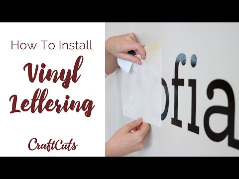 How to Install Vinyl Lettering - DIY Vinyl Wall Letters | Craftcuts.com