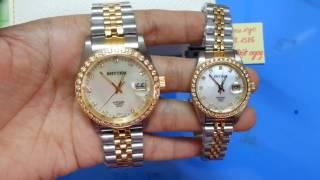 Dong ho rhtyhm    Review đồng hồ đôi Rhythm RQ1617S và RQ1618S   dong ho deo tay   dong ho chinh han